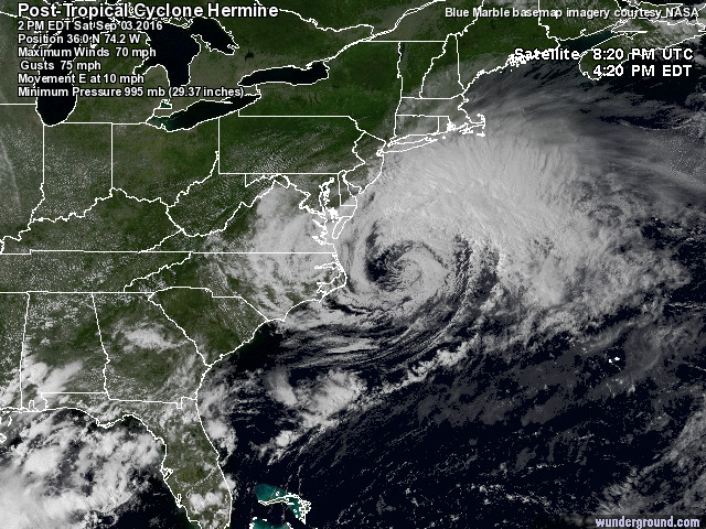 Post Tropical Cyclone Hermine