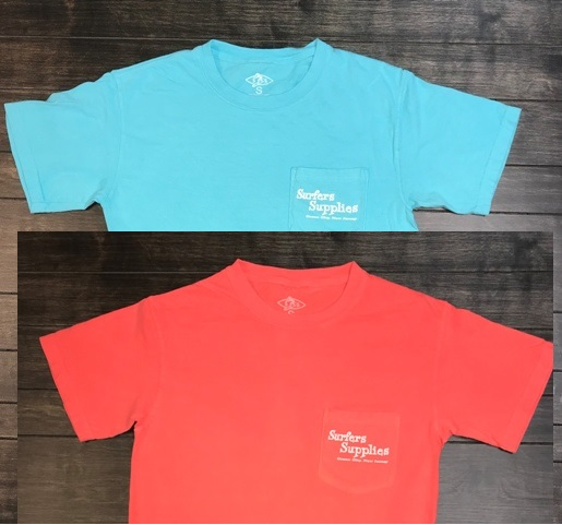 New Surfers Supplies Branded Pigment Dye T's